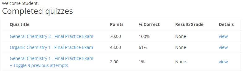 ACS Practice Exam Statistics