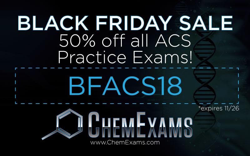 Black Friday Coupon Code – 50% Off ACS Practice Exams