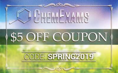 Coupon Code | Spring 2019 | $5 OFF ACS Practice Exam