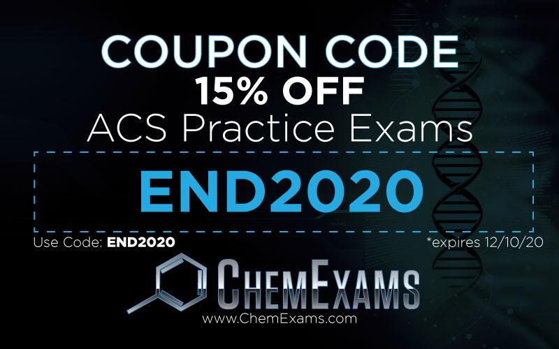 ACS Practice Exams Coupon Code – ChemExams Winter 2020